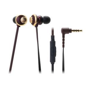 スマートフォン対応 有線 カナル型 イヤホン audio-technica オーディオテクニカ ATH-CKF77iS-BW ブラウン|e-earphone