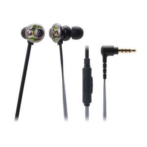 スマートフォン対応 有線 カナル型 イヤホン audio-technica オーディオテクニカ ATH-CKF77iS-CM カモフラージュ|e-earphone