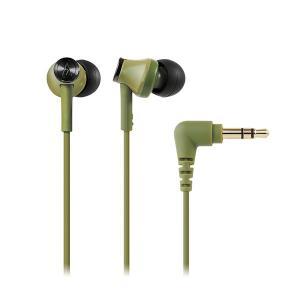 audio-technica オーディオテクニカ ATH-CK350M GR グリーン カナル型 小型 有線 イヤホン イヤフォン|e-earphone