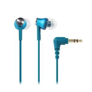 audio-technica オーディオテクニカ ATH-CK350M TBL ターコイズブルー カナル型 小型 有線 イヤホン イヤフォン|e-earphone