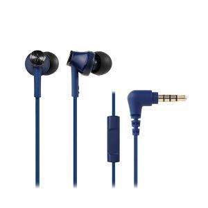 audio-technica オーディオテクニカ ATH-CK350iS BL ブルー リモコン マイク付き カナル型 有線 イヤホン|e-earphone