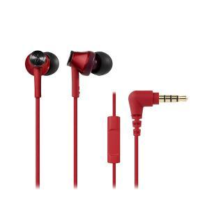 audio-technica オーディオテクニカ ATH-CK350iS RD レッド リモコン マイク付き カナル型 有線 イヤホン|e-earphone