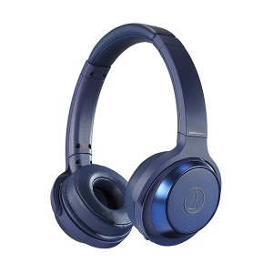 重低音 密閉型 ワイヤレス ヘッドホン audio-technica オーディオテクニカ ATH-WS330BT BL ブルー Bluetooth ブルートゥース ヘッドフォン (送料無料)|e-earphone