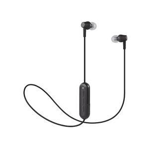 (新製品) audio-technica オーディオテクニカ ATH-CK150BT BK ブラック Bluetooth ワイヤレス カナル型イヤホン (送料無料)|e-earphone