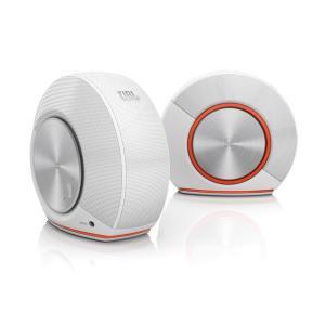 PC用 スピーカー 高音質 USB-DAC内蔵 JBL PEBBLES ホワイト (JBLPEBBLESWHTJN) 国内正規品|e-earphone
