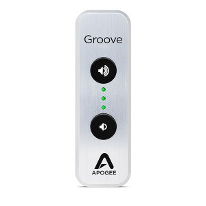 Apogee(アポジー) GROOVE 30th Ann. Silver USB DAC and headphone Amp(PC対応ポータブルUSB DAC) (送料無料)|e-earphone