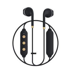 Happy Plugs WIRELESS2 BLACK GOLD 【7620】 おしゃれ かわいい Bluetooth 両耳 ワイヤレス イヤホン (送料無料)|e-earphone