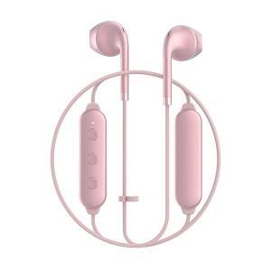 Happy Plugs WIRELESS2 PINK GOLD 【7623】 おしゃれ かわいい Bluetooth 両耳 ワイヤレス イヤホン (送料無料)|e-earphone