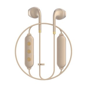 Happy Plugs WIRELESS2 MATTE GOLD 【7624】 おしゃれ かわいい Bluetooth 両耳 ワイヤレス イヤホン (送料無料)|e-earphone