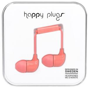 (お取り寄せ) Happy Plugs IN-EAR CORAL 【7714】 おしゃれ かわいい 耳栓型 カナル型 イヤホン (送料無料)|e-earphone