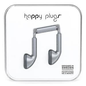 Happy Plugs EARBUD SPACE GREY 【7833】 おしゃれ かわいい インナーイヤー型 オープン型 耳が痛くない イヤホン e-earphone