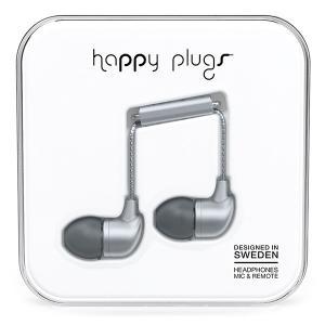 Happy Plugs IN-EAR SPACE GREY 【7834】 おしゃれ かわいい 耳栓型 カナル型 イヤホン (送料無料) e-earphone