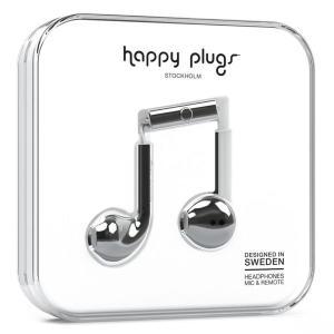 Happy Plugs EARBUD PLUS SILVER 【7822】 おしゃれ かわいい インナーイヤー型 オープン型 耳が痛くない イヤホン (送料無料) e-earphone