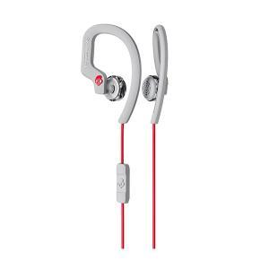Skullcandy スカルキャンディー CHOPS FLEX GRAY/RED 防滴 IPX4 おしゃれ 耳かけ式 イヤホン e-earphone