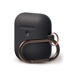 elago AIRPODS HANG CASE for AirPods 2nd ブラック (カラビナ...