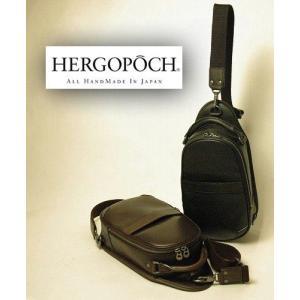 【正規取扱店】送料無料手作り日本製バッグ「エルゴポック」マージシリーズ牛革ボディバッグ|e-ebisu8