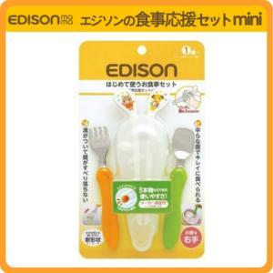 即配送!安心お届け!エジソンの食事応援セット mini エジソンのお箸【右手用】 フォーク スプーンセット|e-edison3