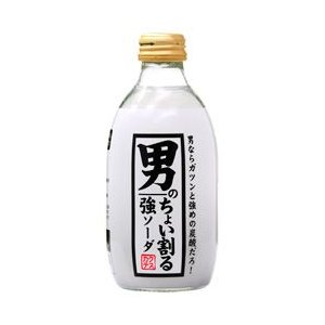 炭酸水 カクテス 男のちょい割る 強ソーダ 300ml 西濃運輸 出荷不可 割り材 ソーダ soda|e-felicity
