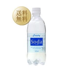 炭酸水 カントリーソーダ ペットボトル 500ml×48本(2ケース) 他商品と同梱不可 西濃運輸 出荷不可 割り材 ソーダ soda|e-felicity