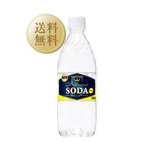 炭酸水 サントリーソーダ レモン 強炭酸 1ケース 24本入 ペットボトル 490ml 炭酸水 割り材 ソーダ soda|e-felicity