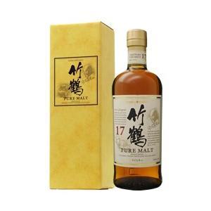 ウイスキー ニッカ 竹鶴 17年 ピュアモルト スリムボトル 43度 箱付 700ml 洋酒 whisky