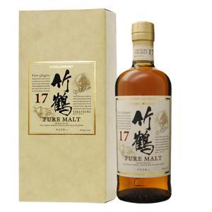 ウイスキー ニッカ 竹鶴 17年 ピュアモルト スリムボトル 43度 ギフトボックス 700ml 洋酒 whisky|e-felicity