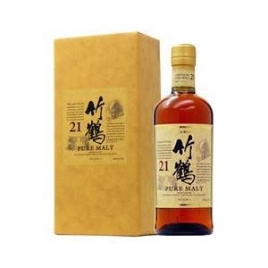 ウイスキー ニッカ 竹鶴 21年 ピュアモルト スリムボトル 43度 ギフトボックス 700ml 洋酒 whisky|e-felicity
