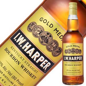 ウイスキー IWハーパー ゴールドメダル 40度 正規 箱なし 700ml バーボン 洋酒 whisky|酒類の総合専門店 フェリシティー