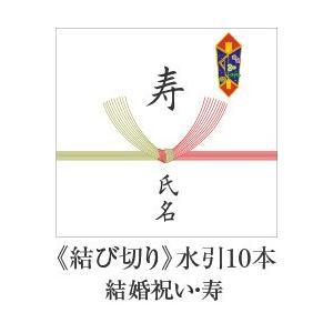 熨斗【結び切り 水引10本】 結婚祝い 寿 用|e-felicity