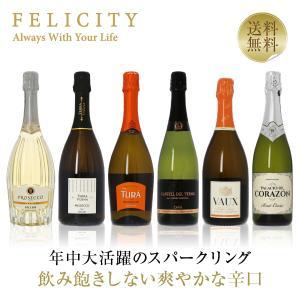 スパークリング ワインセット フェリシティー厳選!至福の泡 6本セット 第40弾 750ml×6 送料無料 sparkling wine set e-felicity