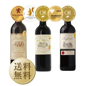 赤ワインセット フランス ボルドー 金賞受賞 ボルドー赤ワイン 3本セット 第21弾 750ml×3 送料無料 wine set e-felicity