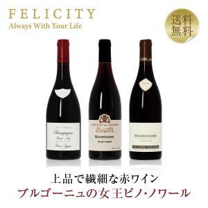 赤ワインセット フランス ドメーヌ ブルゴーニュ ピノ・ノワール 3本セット 第3弾 750ml×3...