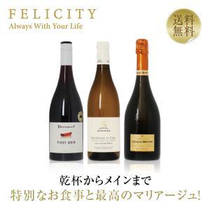 ワインセット フランス イタリア 特別な日のフルコースワイン(泡・白・赤)3本セット 第3弾 750...