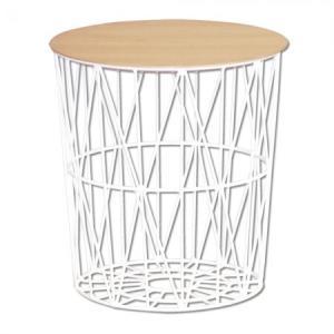 サイドストレージテーブル HERA ヘラ ホワイト