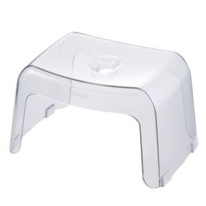 腰かけ20H カラリ 329825 ナチュラル 風呂椅子 バスチェア 20cm 透明 お風呂 イス