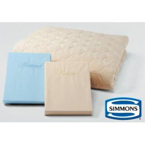 シモンズコンポ3 羊毛ベーシック3 ベッドパットシーツセット セミダブル simmons|e-flat