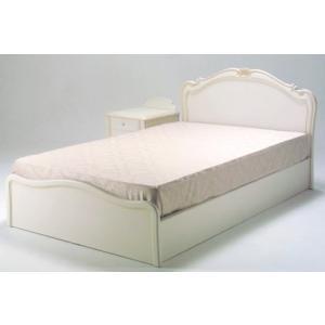 カンティーニュベッド クラシック・アンティーク風ホワイトシングルベッド kobo ノーマルタイプ マット付き 日本製|e-flat