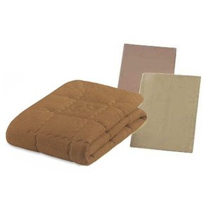 フランスベッド 最高級の肌触りキャメル&ウール3点ベッドパッドメーキングセット セミダブル ベッドパッド&シーツ2枚セット 布団カバーセット|e-flat