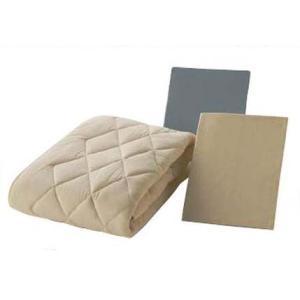 フランスベッド クランフォレスト羊毛3点ベッドパック ワイドダブル ベッドメーキング|e-flat