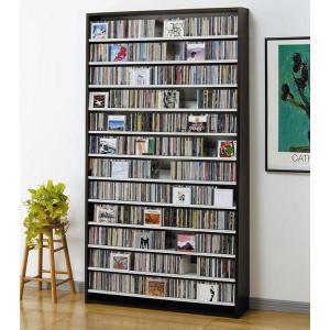 大量ディスプレイCDストッカー CD1284枚収納 DVDも可 ダーク|e-flat