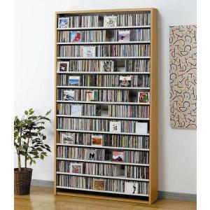 大量ディスプレイCDストッカー CD1284枚収納 DVDも可 ナチュラル|e-flat