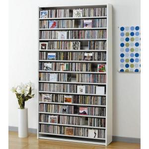 大量ディスプレイCDストッカー CD1284枚収納 DVDも可 ホワイト|e-flat