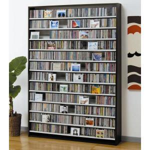 大量ディスプレイCDストッカー CD1668枚収納 DVDも可 ダーク|e-flat