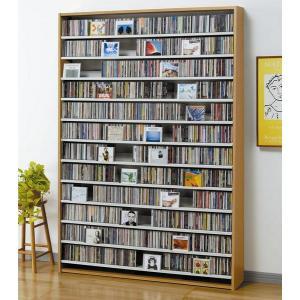 大量ディスプレイCDストッカー CD1668枚収納 DVDも可 ナチュラル|e-flat