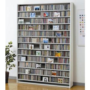 大量ディスプレイCDストッカー CD1668枚収納 DVDも可 ホワイト|e-flat