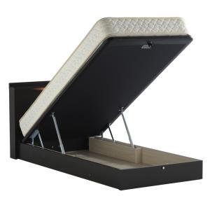 ドリームベッド イーポイント2702 セミダブル 宮付き・棚付き・照明 リフトアップタイプ・大型収納 ガスハッチ式 マットレス付き 日本製 e-flat