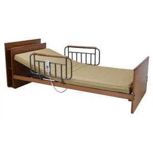 アンネルベッド CYケアサポートCT 3モーター キャビネット棚付 シングル つかまり取っ手 電動ベッド 電動リクライニング 手すり付き 介護 フラット e-flat