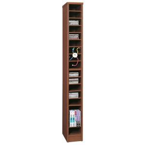 日本製 カラーボックス ニューコスモス338 書類棚 ダーク|e-flat