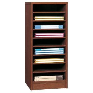 日本製 カラーボックス ニューコスモス337 書類棚 ダーク|e-flat