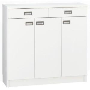 日本製 カウンター下収納庫 90サイズ ストッカー ホワイト オリオン 隙間棚シェルフ|e-flat